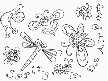 SPRING IS IN THE AIR! Coloring Page & Clip Art