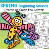 SPRING Beginning Sounds Stamp or Color