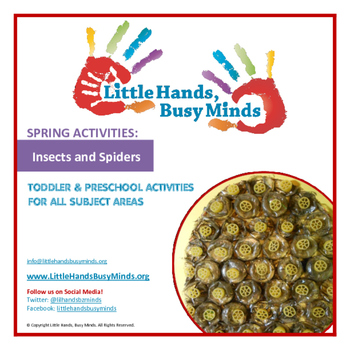 SPRING: Insects & Spiders Weekly Thematic Unit for Toddlers & Preschoolers