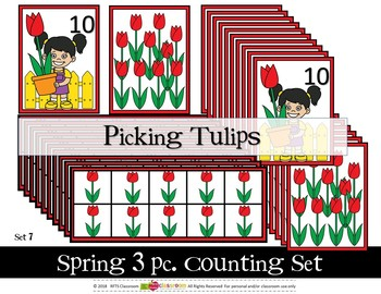 SPRING KIDS (10) 3 PC COUNTING SETS