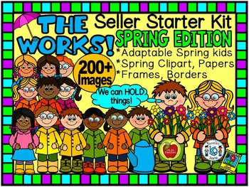 THE WORKS! SELLER STARTER BUNDLE (SPRING CLIP ART EDITION)