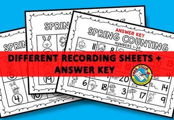 SPRING KINDERGARTEN ACTIVITIES (SPRING COUNT THE ROOM BUNDLE) NUMBERS 1-20