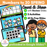 SPRING Kites Numbers 1 to 20 Count and Show Activity in Google Slides