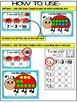 SPRING- LADYBUG ADDITION TASK CARDS & WORK MATS- NUMBERS 1-10