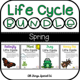Life Cycle BUNDLE - Plant, Butterfly, Frog and Bee interactive