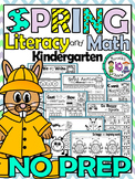 PHONICS AND MATH worksheets for kindergarten (spring theme)