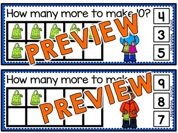 SPRING MATH CLIP CARDS: MAKING TEN TASK CARDS