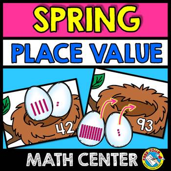SPRING MATH (PLACE VALUE GAMES) BASE TEN BLOCKS MATCHING BLOCKS TO NUMBERS