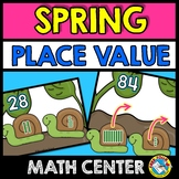 SPRING MATH ACTIVITIES (SNAILS PLACE VALUE GAME) NUMBER SE
