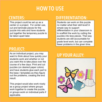 SPRING MATH ACTIVITIES FOR 3RD GRADE - BUTTERFLY
