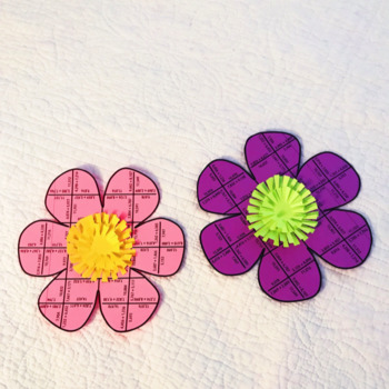 SPRING MATH ACTIVITIES FOR 3RD GRADE - FLOWER