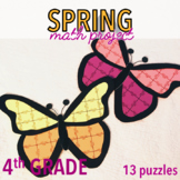 SPRING MATH ACTIVITIES FOURTH GRADE BUTTERFLY