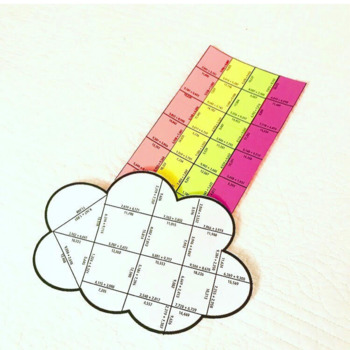 SPRING MATH ACTIVITIES - FOURTH GRADE RAINBOW