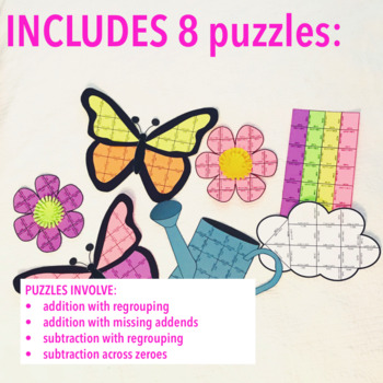 SPRING MATH CRAFTIVITY - ADDITION AND SUBTRACTION