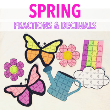 SPRING MATH CRAFTIVITY - FRACTIONS AND DECIMALS