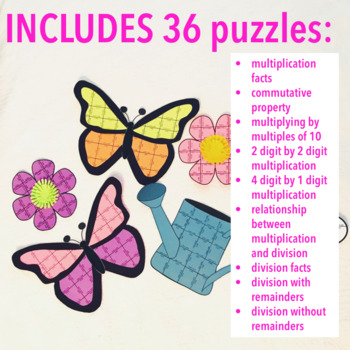SPRING MATH CRAFTIVITY - MULTIPLICATION AND DIVISION