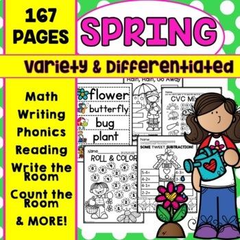 Spring Activities Spring Writing Spring Math Activities