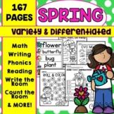 Spring Kindergarten Math Literacy Worksheets Activities