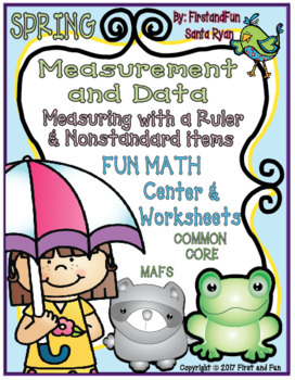 SPRING MEASURING WITH RULERS AND NONSTANDARD ITEMS CENTER