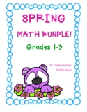 SPRING Math Bundle!  Grades 1 - 3