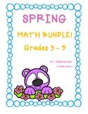 SPRING Math Bundle!  Grades 3 - 5
