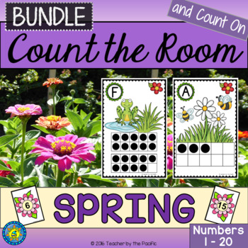 SPRING Math Center: Count the Room {BUNDLE}