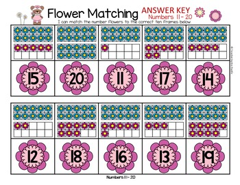 SPRING Math - Number Sequencing and Matching  1 - 20
