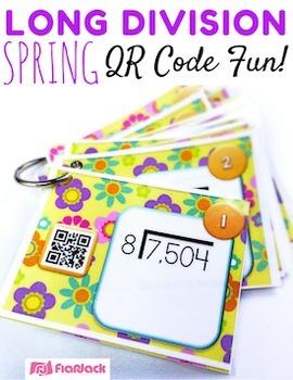 SPRING Math Operations QR Code Bundle