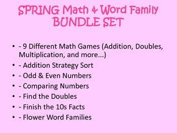 SPRING Math & Word Family BUNDLE SET