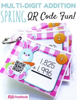 SPRING Multi-Digit ADDITION QR Code Fun