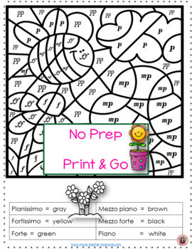SPRING Music Coloring Sheets: 24 Color by Music Pages