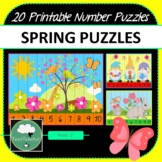 SPRING NUMBER PUZZLES 20 Summer Puzzles 1-10 + Times Tables