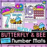 SPRING Number Counting Mats 1-20 {Butterfly + Bee BUNDLE}