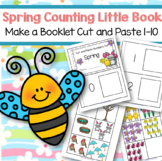 SPRING Numbers Cut and Paste 0-10 Little Books Counting
