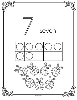 SPRING Numbers 10-Frames Coloring Book