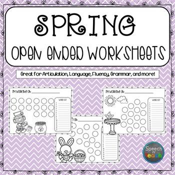 SPRING Open Ended Worksheets *Dollar Deal*