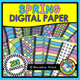 SPRING DIGITAL PAPER BACKGROUNDS CLIPART