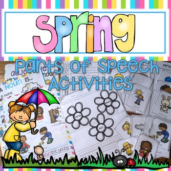 SPRING PARTS OF SPEECH NOUN, VERB, ADJECTIVE POSTERS AND S