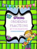 SPRING PRINT AND GO  Ordering Fractions Task Cards Common Core
