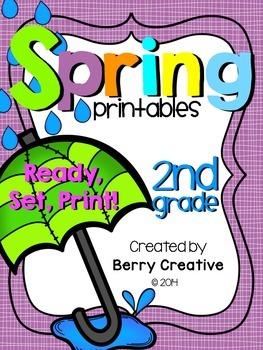 SPRING PRINTABLES FOR SECOND GRADE {READY, SET, PRINT!}