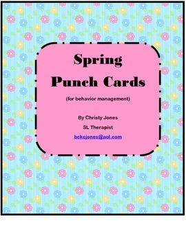 SPRING PUNCH CARDS