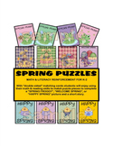 SPRING PUZZLES for MATH and LITERACY REINFORCEMENT