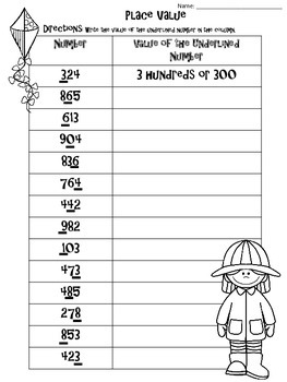 """SPRING"" Place Value Activities"