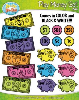 SPRING Play Money Clipart {Zip-A-Dee-Doo-Dah Designs}