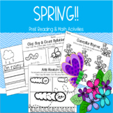 SPRING! PreK Reading Math Independent Work Packet
