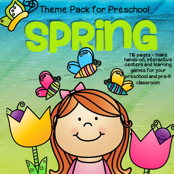SPRING Math and Literacy Centers and Activities for Preschool and Pre-K