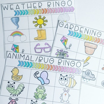 Print and Go SPRING NO PREP Early Language Pack