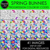 SPRING Progression Color By Code: Bunnies