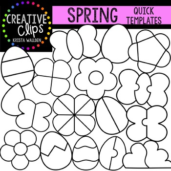 SPRING Quick Templates {Creative Clips Digital Clipart}
