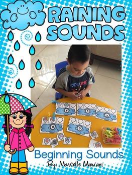 SPRING- RAINING SOUNDS- A BEGINNING SOUNDS SPRING CENTER ACTIVITY